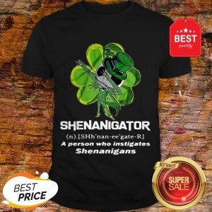 St Patrick's Day Jack Skeleton Shenanigator A Person Who Instigates Shenanigans Shirt