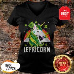 Unicorn St Patricks Day Lepricorn Girl Women Costume V-Neck