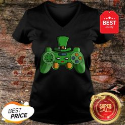 Video Game Gaming St Patricks Day Gamer T V-Neck