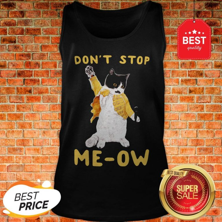 Freddie Meowrcury Don't Stop Meow Tank Top