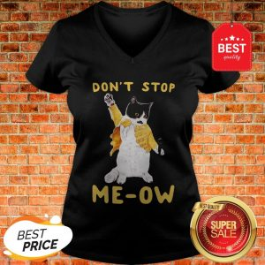 Freddie Meowrcury Don't Stop Meow V-Neck
