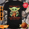 Good Baby Yoda I Wear Orange For Copd Awareness Shirt