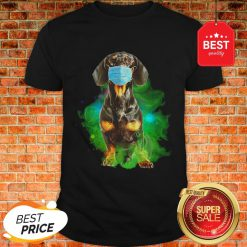 Good Dachshund Face Mask Corona Shirt