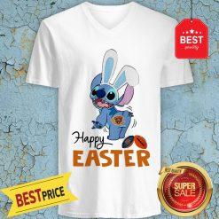 Good Disney Stitch Chicago Bears Logo Happy Easter V-Neck