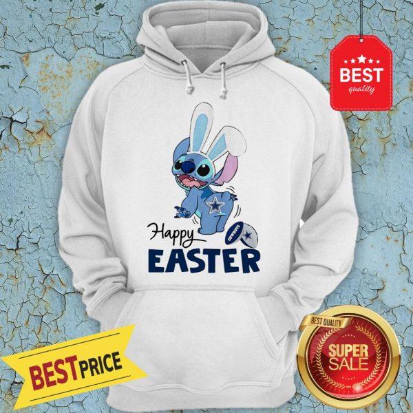 Good Disney Stitch Dallas Cowboys Logo Happy Easter Hoodie