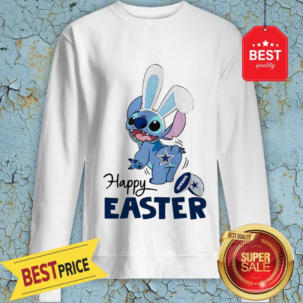 Good Disney Stitch Dallas Cowboys Logo Happy Easter Sweatshirt