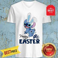 Good Disney Stitch Dallas Cowboys Logo Happy Easter V-Neck