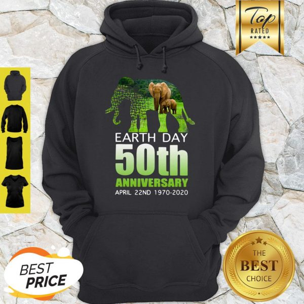 Good Elephant Earth Day 50 April 22nd 1970 2020 Hoodie
