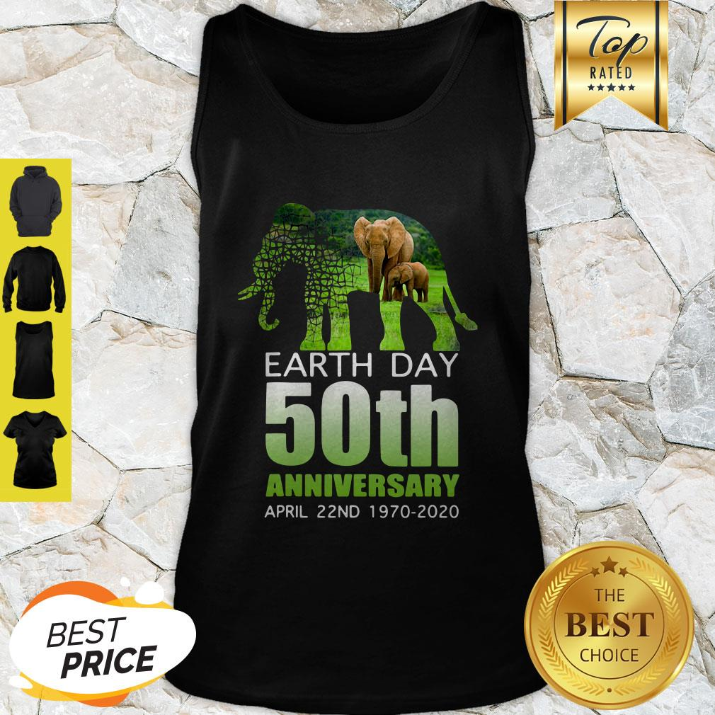 Good Elephant Earth Day 50 April 22nd 1970 2020 Tank Top