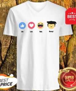 Good Emoji Like Love Haha Heresy V-Neck