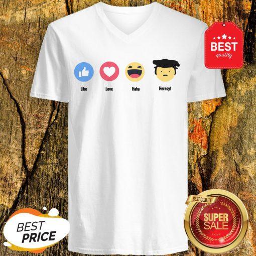 Good Emoji Like Love Haha Heresy V-Neck