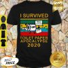 Good I Survived Toilet Paper Apocalypse 2020 Covid 19 Sunset Shirt