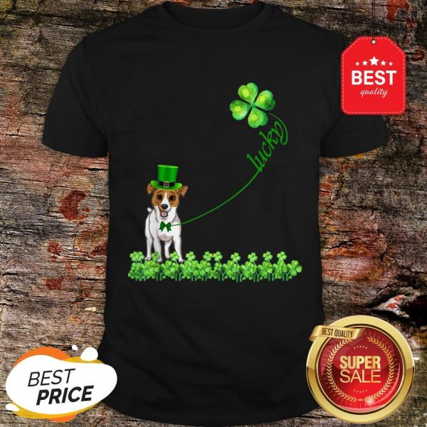 Good Lucky Saint Jack Russell Terrier Dog Shamrock St Patrick Day T-Shirt