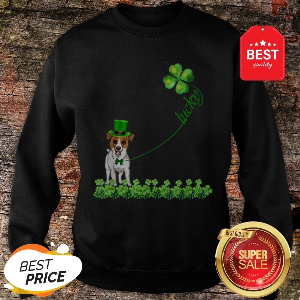 Good Lucky Saint Jack Russell Terrier Dog Shamrock St Patrick Day T-Sweatshirt