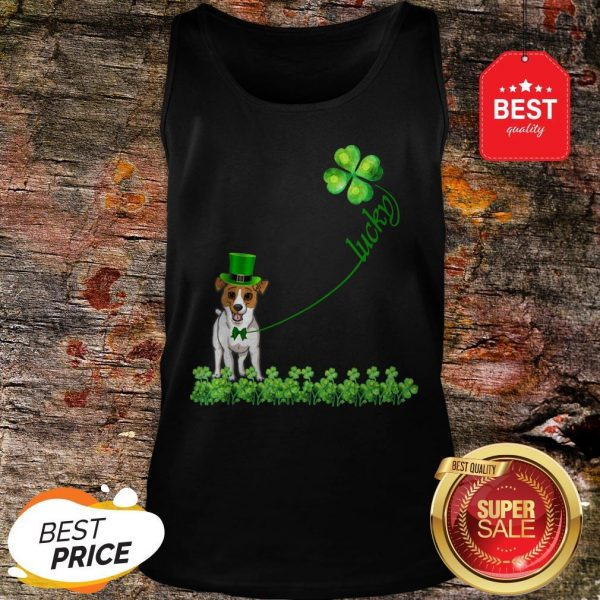 Good Lucky Saint Jack Russell Terrier Dog Shamrock St Patrick Day T-Tank Top