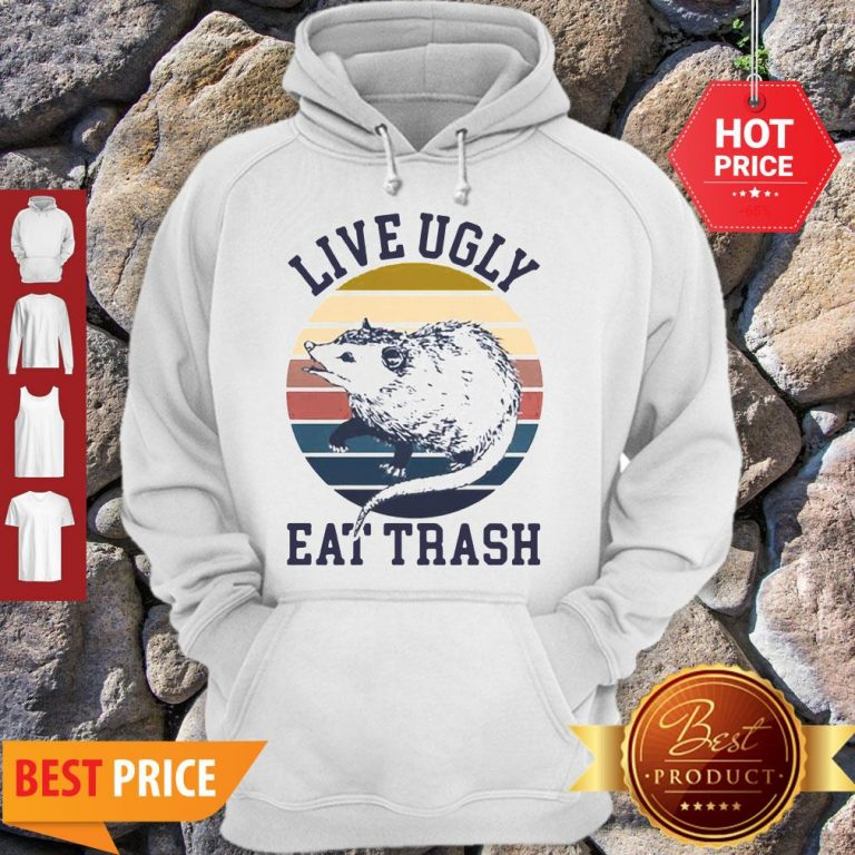 Good Opossum Live Ugly Eat Trash Vintage Hoodie