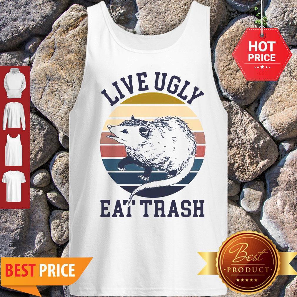 Good Opossum Live Ugly Eat Trash Vintage Tank Top