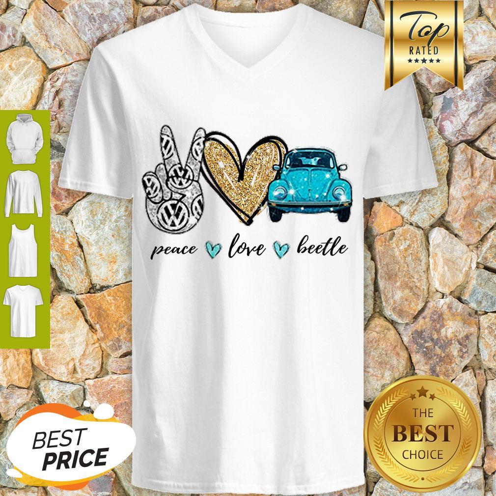 Good Peace Love Beetle V-Neck