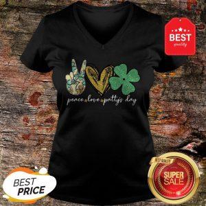 Good Peace Love Patty's Day St Patricks Day V-Neck