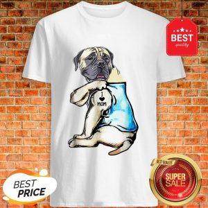 Good Top English Mastiff I Love Mom Funny English Mastiff Tattooed Shirt