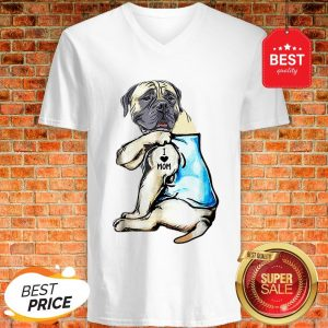 Good Top English Mastiff I Love Mom Funny English Mastiff Tattooed V-Neck