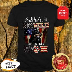 He Is Not Just A Rottweiler He Is My Son American Flag Shirt