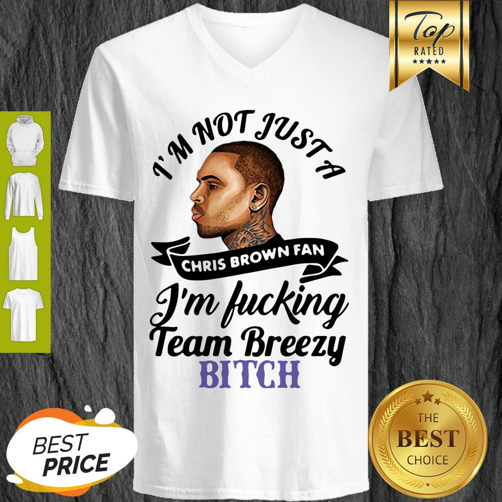 I'm Not Just A Chris Brown Fan I'm Fucking Team Breezy Bitch V-Neck