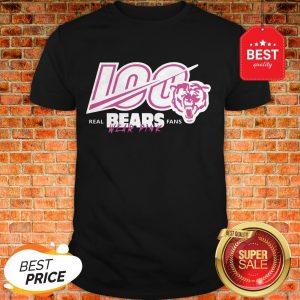Nice 100 Real Bears Fans Wear Pink Chicago Bears Shirt