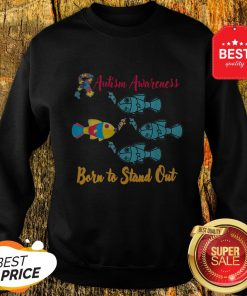 Nice Born To Stand Out Puzzle Ribbon Cool Autism Awareness Gift Sweatshirt