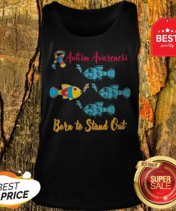 Nice Born To Stand Out Puzzle Ribbon Cool Autism Awareness Gift Tank Top