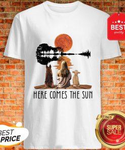 Nice Mm Dog Sun Here Comes The Sun Shirt