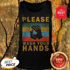 Nice Please Wash Your Hands Vintage Coronavirus Tank Top