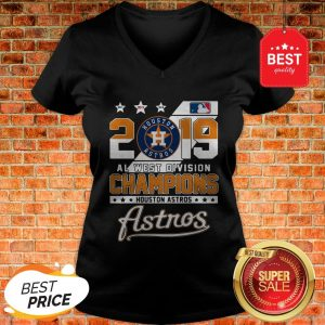 Official 2019 Al West Division Champions Houston Astros V-Neck