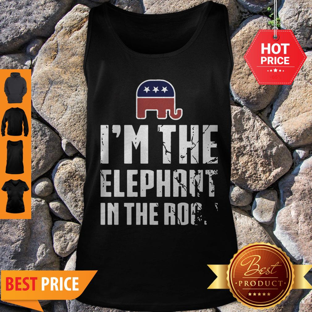 Pretty American Elephant Symbol I'm The Elephant In The Room Tank Top - Design By Refinetee.com