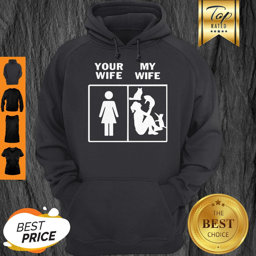 Pretty Cats Lady Your Wife My Wife Hoodie - Design By Refinetee.com