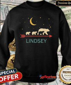 Pretty Lindsey Name Gift Personalized Mama Bear With 3 Cubs Sweatshirt - Design By Refinetee.com