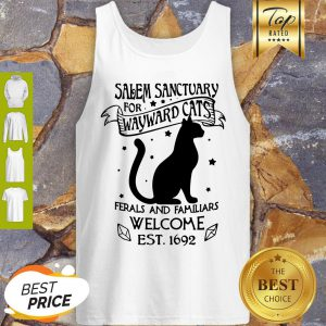 Pretty Salem Sanctuary For Wayward Cats Ferals And Familiars Welcome Tank Top - Design By Refinetee.com