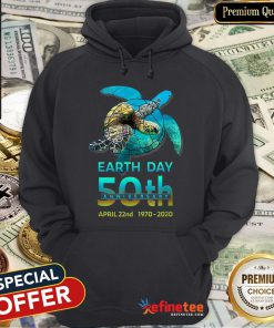 Pretty Sea Turtle Earth Day 50th Anniversary April 22nd 1970-2020 Hoodie - Design By Refinetee.com