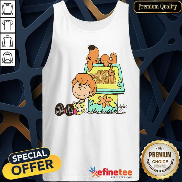 Pretty Shaggy And Scooby Mystery Nuts Snoopy And Charlie Brown Tank Top - Design By Refinetee.com