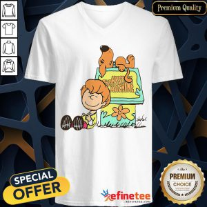 Pretty Shaggy And Scooby Mystery Nuts Snoopy And Charlie Brown V-Neck