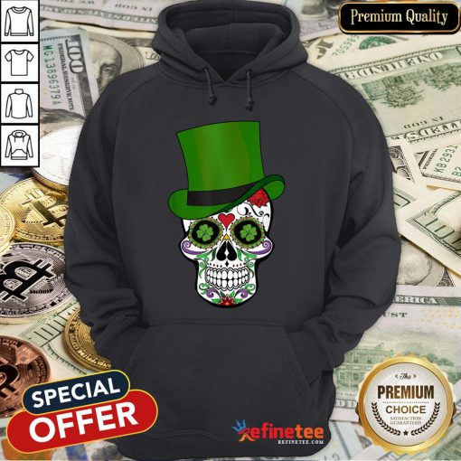 Sugar Skull St Patrick's Day Saint Patty's Day Hoodie - Design By Refinetee