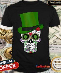 Sugar Skull St Patrick's Day Saint Patty's Day T-Shirt - Design By Refinetee