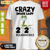 Funny Crazy Snake Lady 2020 Isolated Toilet Paper Mask Shirt