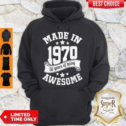 Funny Made In 1970 50years Of Being Awesome Hoodie