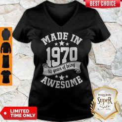 Funny Made In 1970 50years Of Being Awesome V-Neck