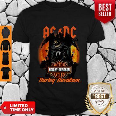 Good ACDC Jack Skellington Motor Harley-Davidson Cycles Shirt
