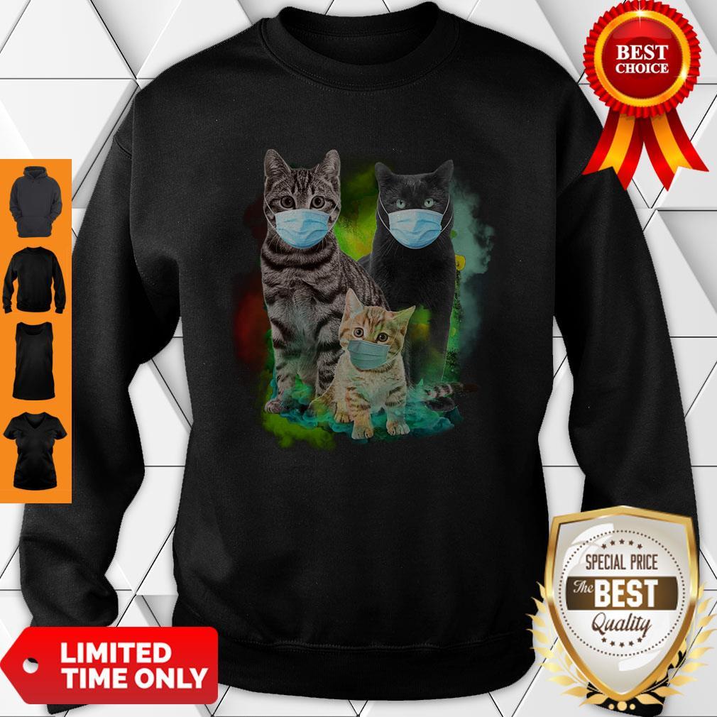 Good Cat Wear Face Mask 2020 T-Sweatshirt