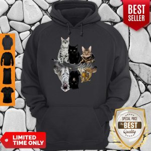 Good Cats Reflection Water Mirror Tigers Hoodie