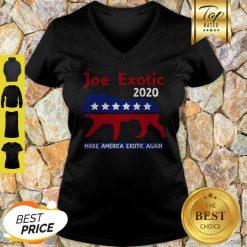 Good Joe Exotic Tiger King Make American Extic Again V-Neck