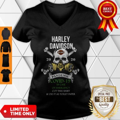 Good Skull Harley-Davidson 2020 Pandemic Covid-19 In Case Of Emergency V-Neck